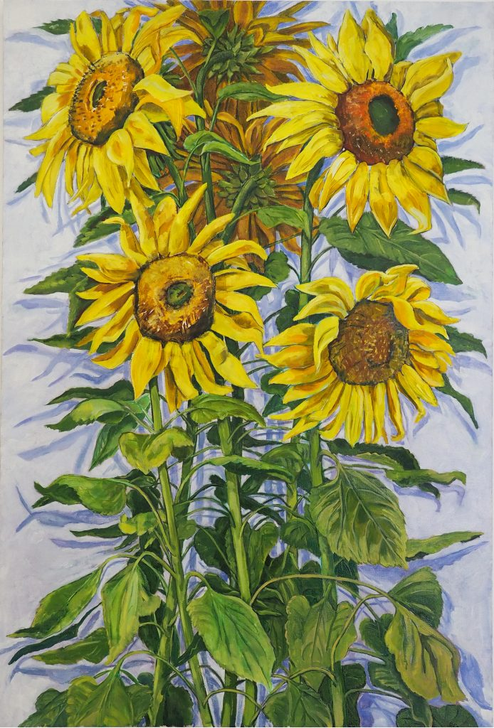 Russian Sunflowers 91x61cm oil on canvas $1500
